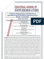 Trends in Changing Pattern of Productivity of Agricultural Land in the District of Burdwan of West Bengal - A Case Study