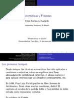 Matematicas y Finanzas