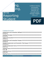 assessing evaluating