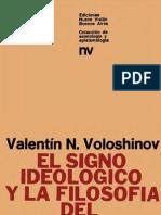 El signo ideológico y la filosofía del lenguaje V. Voloshinov