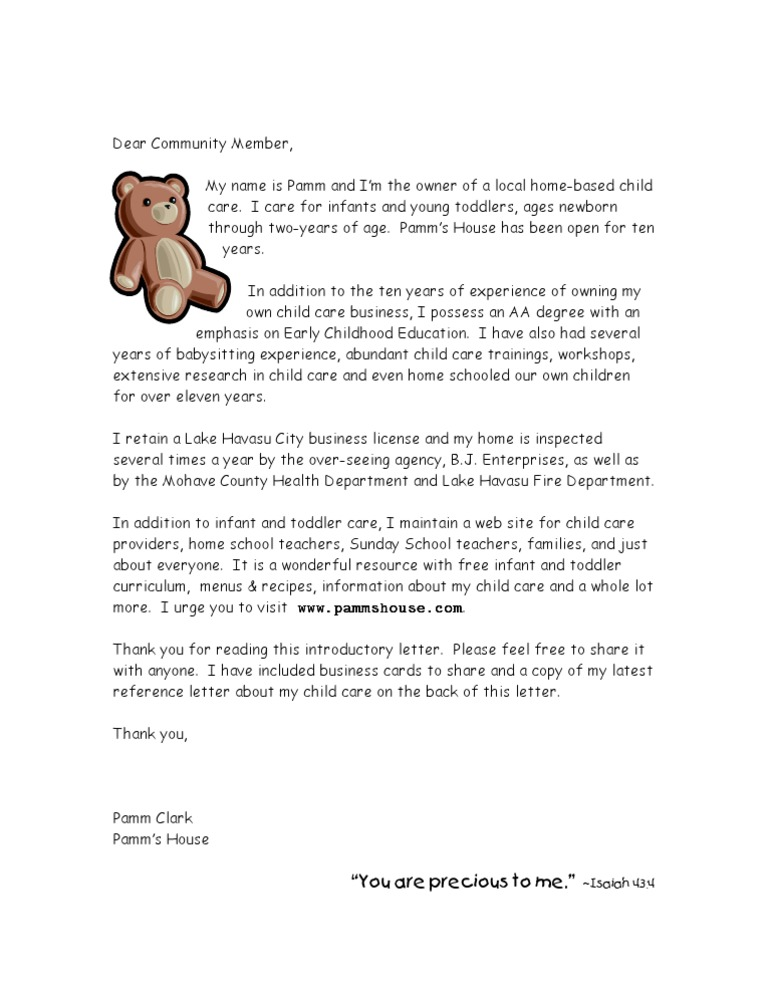 Reference Letter For Child Care Teacher from imgv2-2-f.scribdassets.com