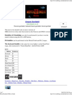 Mortal Kombat II Moves Guide