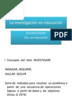 La investigación en educación