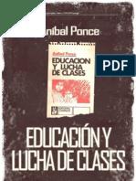 Anibal Ponce Educacion y Lucha de Clases Libro Completo
