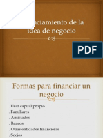 Financiamiento de La Idea de Negocio