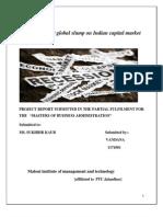 Impact of Recent Global Slump on Indian Capital Market