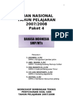 Ujian Nasional Bahasa Indonesia Paket 4