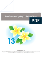 Salesforce Spring13 Release Notes