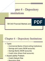 Chapter 4 – Depository Institutions