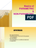 parametric & non-parametric tests