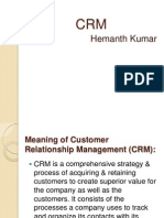 Crm Reliance mart and bigbazaar