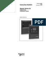 Sepam 20 Installation Manual
