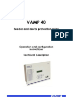 VAMP 40_EN008_motor and Feeder Protection_arc Protection_relay