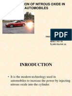 Application of Nitrous Oxide in Automobiles.