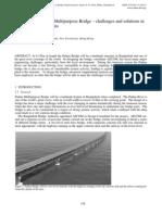 The design of Padma Multipurpose Bridge – challenges and solutions.