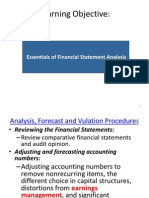 Essentials of Financial Statement Analysis
