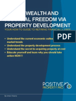 Create Wealth and Financial Freedom via Property Development