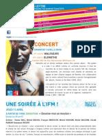 La Lettre de l'IFM Du 7 Au 12 Avril 2013