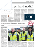 Hulp burger hard nodig / Buurtpreventie bloeit op in Roosendaal