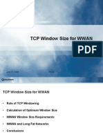 TCP Window Size for WWAN