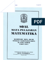 Soal Osn Matematika Sd 2011 Tingkat Kabupaten