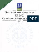 DNV RP B401 1993