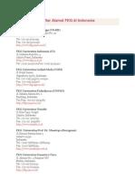 Daftar Alamat FKG Di Indonesia