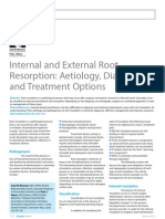Internal and External Root Resorption Aetiology, Diagnosis and Treatment Options