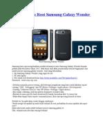 Tutorial Cara Root Samsung Galaxy Wonder