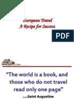 European Travel - Recipe for Success