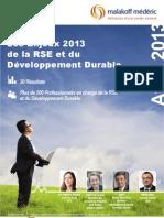 Etude - Les Enjeux 2013 de la RSE et du Développement Durable by BDO-MM-ORSE-Squaremetric