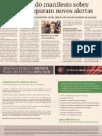 Apresentação Manifesto DESPESA PÚBLICA MENOR PARA UM FUTURO MELHOR | Diário Económico, 5-abr-2013