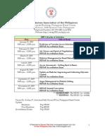 RENAP 2009 Training Schedules