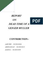 DEAD TIME OF A GEIGER MULLER