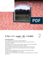 Window or Wall? - 2 Tim  1 1-7  preek  VB  7-4-2013 - WEB