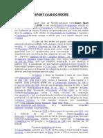 SPORT CLUB DO RECIFE - APRESENTAÇÃO DO MAIOR CLUBE DO NORDESTE