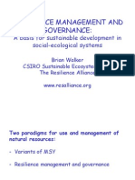 Resilience Management and Governance B Walker