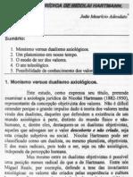 João Maurício Adeodato - A axiologia jurídica de Nicolai Hartmann