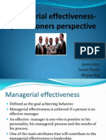 Managerial Effectiveness Ppt