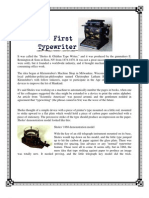 The First Typewriter