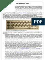 Type Keyboard Layout