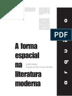 A Forma Espacial Na Literatura Moderna - Joseph Frank