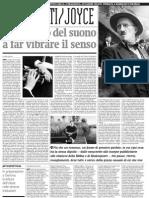 L'Ulisse Di Joyce Nella Macchina Verbale Di Gianni Celati - Alias de Il Manifesto 07.04.2013