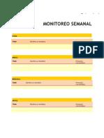 Monitoreo Semanal Personal