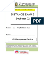 March 2distance Exam 2 Beg2
