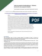 Aprendizagem baseada em projectos interdisciplinares – Dinâmica organizacional de uma equipa de trabalho