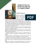 EJERCICIO DE LOS SIETES DOLORES DE LA VIRGEN MARÍA