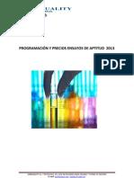 Prog Precios y Fechas Prog EA Aseq 2013