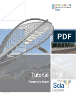 Scia Engineer Tutorial Parametric Input