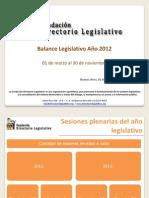 Balance Legislativo 02-12-20121